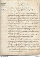 Rare 26 Juillet 1855 Arreté Prefecture De L'aude ( 11 )  MAZET Construction D'un Pont Sur L'Orbieu à Lagrasse - Manuscrits