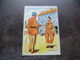 Soldats  ' Jochey Dans Le Civil  Bon  Suivez Le Peloton  ( Ecrite + Timbre) Signé - Humour