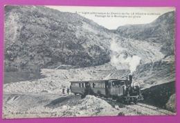 Chemin De Fer, Ligne  Le Pouzin-Aubenas, Passage De La Montagne Qui Glisse - Le Pouzin