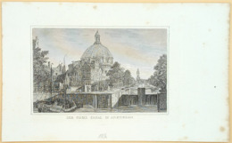 Amsterdam Singelkanaal Lutherse Kerk - Prenten & Gravure