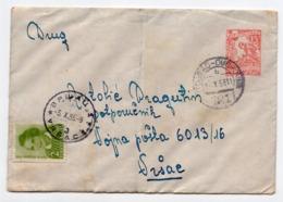 1955 YUGOSLAVIA, MONTENEGRO, TPO 121 TITOGRAD-DUBROVNIK, SENT TO VRSAC, CHILDREN'S WEEK ADDITIONAL STAMP - 1945-1992 Socialist Federal Republic Of Yugoslavia