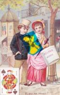 Chromo 7cm Large X 11 Cm Haut - Représentant Couple N°6 Qui Me Trahit ? - Valet De Pique - - Cartes Postales