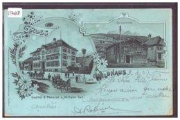 GRUSS AUS WILDHAUS - MONDSCHEIN LITHO  - TB - SG St. Gall