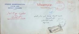Lebanon Liban 1974 Metered  Letter On A Pfizer Vibramycin Advertising Letter - Liban