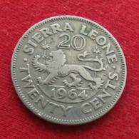 Sierra Leone 20 Cents 1964 KM# 20 Serra Leoa Sierra Leona - Sierra Leona