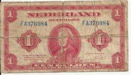 PAYS-BAS 1 GULDEN 1943 VG P 64 - [2] 1815-… : Regno Dei Paesi Bassi