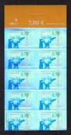 FINLANDE 2007 - Yvert N° 1794 - Facit 1828 - Neuf ** / MNH - FEUILLET 10 Valeurs - La Télévision Finlandaise - Markenheftchen
