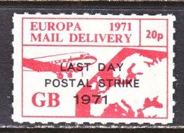 GREAT  BRITIAN  LAST  DAY  POSTAL  STRIKE  1971  ** - Cinderellas
