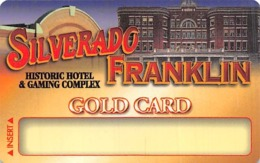 Silverado - Franklin Historic Hotel - Deadwood SD - BLANK GOLD Casino Slot Card - Casino Cards