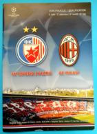 RED STAR BELGRADE Vs AC MILAN - 2006 UEFA CHAMPIONS LEAGUE Football Soccer Match Programme Calcio Programma Italy Italia - Tickets - Entradas