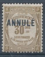 N°46-C 11 ANNULE  NEUF* - Lehrkurse