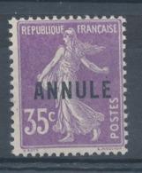 N°142 -C 11 ANNULE  NEUF* - Lehrkurse