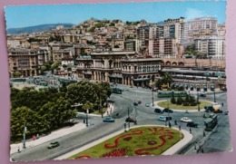GENOVA - Piazza Verdi E Stazione Brignole - Tram, Train Station, Auto, Cars - Nv  L2 - Genova