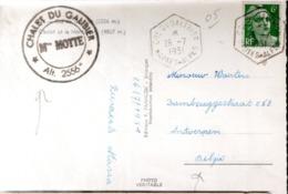 """CARTE POSTALE FRANCE 1951 - CACHET POSTAL HEXAGONAL """"COL DU GALIBIER"""" - - Vacanze & Turismo"""