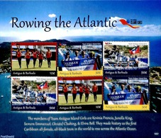 Antigua & Barbuda 2019 Rowing The Atlantic 6v M/s, (Mint NH), Kayaks & Rowing - Aviron