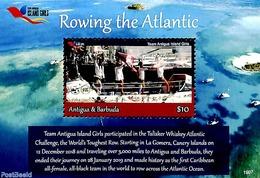 Antigua & Barbuda 2019 Rowing The Atlantic S/s, (Mint NH), Kayaks & Rowing - Aviron