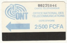 IVORY COAST - ONT Logo, First Issue 2500 FCFA, Very Large CN, Used - Côte D'Ivoire