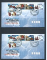 Australian Antarctic Territory 1997 ANARE Anniversary Set 5 On 4 Base FDC Set Official Unaddressed - FDC