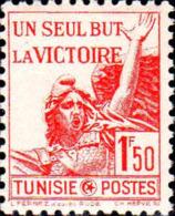 Tunisie Poste N** Yv:244 Mi:256 Un Seul But La Victoire La Marseillaise De Rude (Petit Def.gomme) - Tunisia (1888-1955)