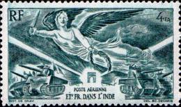 Inde Avion N** Yv:10 Mi 274 Anniversaire De La Victoire (pli) - India (1892-1954)