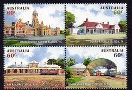 AUSTRALIA, 2013 RAILWAY STATIONS BLOCK 4 MNH - 2010-... Elizabeth II
