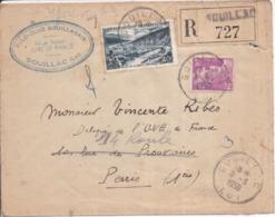 46 SOUILLAC - Enveloppe Recommandée Circulée En 1950 - Vélo-Club Souillagais - Siège : Café De France - Souillac
