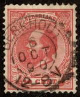 "NTH SC #25 U 1872 King William III W/SON ""BERKHOUT/6 OCT 90/12-8V"" CV $1.60 - Period 1852-1890 (Willem III)"