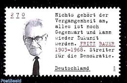 Germany, Federal Republic 2019 Fritz Bauer 1v, (Mint NH), Politicians - Ungebraucht