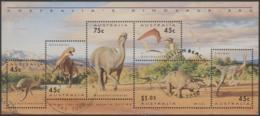 AUSTRALIA - USED 1993 Dinosaur Souvenir Sheet - 1990-99 Elizabeth II