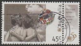AUSTRALIA - USED 1995 45c 50th Anniversary Of United Nations - With UN Tab - 1990-99 Elizabeth II