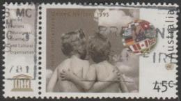 AUSTRALIA - USED 1995 45c 50th Anniversary Of United Nations - With UNESCO Tab - 1990-99 Elizabeth II