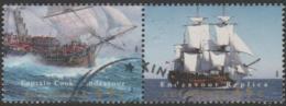 AUSTRALIA - USED 1995 45c Endeavour Replica Se-tenant Pair - Ships - 1990-99 Elizabeth II