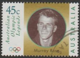 AUSTRALIA - USED 1998 45c Olympic Legends - Murray Rose - Face - 1990-99 Elizabeth II