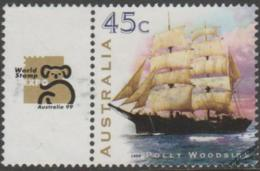 AUSTRALIA - USED 1999 45c Polly Woodside With World Stamp Expo 99 Tab - Sailing Ship - 1990-99 Elizabeth II