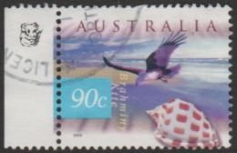 AUSTRALIA - USED 1999 90c Nature Of Australia Coastal - Brahminy Kite- 1Koala Reprint - 1990-99 Elizabeth II