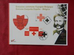 Carte 1er Jour-Belgique-émission Commune Avec L'Espagne(Croix Rouge) - Belgien