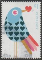 AUSTRALIA - USED 2018 $1.00 With Love - Embellished Blue Bird - 2010-... Elizabeth II