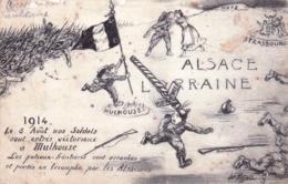68 - Haut Rhin - Nos Soldats Sont Entrés Victorieux A MULHOUSE -  Illustrateur  - Alsace Lorraine -  Guerre 1914 - Mulhouse