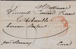 PSC De Toulouse (31) Pour Thiberville (27) - 2 Juin 1832 - CAD Rond Type 12 Rouge & Dateur A - Taxe Manuelle 15 - 1801-1848: Precursori XIX