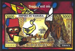 CPM Sucre Satirique Caricature Algérie Jacques LEBAUDY Empereur Du Sahara Sugar Non Circulé Banania Billet De Banque - Western Sahara