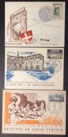 CM0290 Orphelins P.T.T. Cachan - Foyer Féminin Paris - Villes Jumelées Aix Les Bains Lot 3 Carte Maximum 1023 1037 1082 - 1950-59