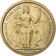 Monnaie, Nouvelle-Calédonie, Franc, 1949, Paris, ESSAI, SPL, Copper-nickel - Nouvelle-Calédonie
