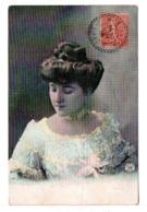 CPA - FRANCE - CACHET : MONTBAZIN (HÉRAULT) Sur Carte Postale Jeune Femme - Poststempel (Briefe)