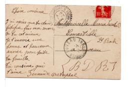 CPA - FRANCE - CACHET : ST-SAVOURNIN / FUVEAU ( BOUCHES DU RHÔNE) Sur Carte Postale Jeune Femme - Poststempel (Briefe)