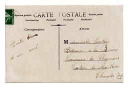 CPA - FRANCE - CACHET DE FACTEUR Recto / Verso Discret Sur Carte Postale Jeune Femme - 1877-1920: Période Semi Moderne
