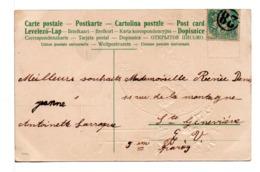 CPA - FRANCE - CACHET JOUR DE L'AN 28 Sur Carte Postale Bonne Année - Poststempel (Briefe)