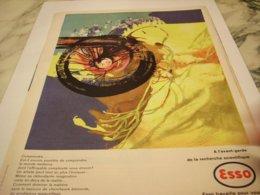 ANCIENNE PUBLICITE LTRAVAILLE POUR VOUS ESSO 1959 - Transportation