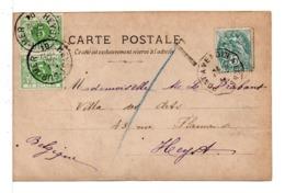 CPA - FRANCE - CACHET : PONT-AVEN A LENS - TAXE BELGE Sur Carte Postale Fillette - Poststempel (Briefe)