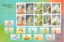 China 2005, Andersen's Fairy Tales, M/S + Adhesive M/S, MNH** - Ducks