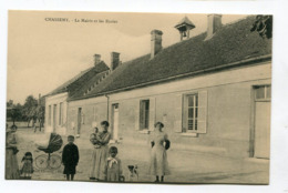 CPA  02 : CHASSEMY  Mairie Et écoles Animées   A  VOIR   !!!! - France